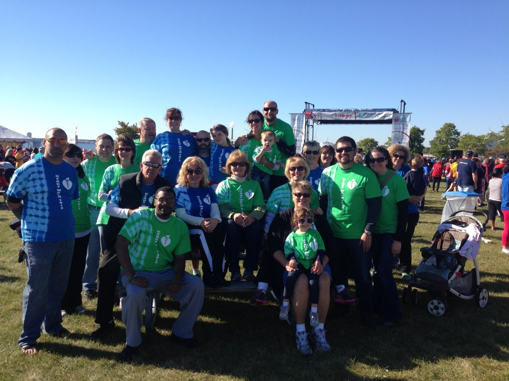 The Green and Blue Schroeder Solutions Heart Walk Teams!