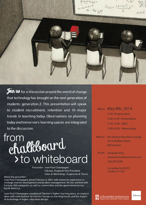 From Chalkboard to Whiteboard Afternoon Event Invite